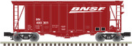 Atlas O Scale 40' Airslide Covered Hopper (2-Rail) BNSF (Wedge Logo) #400301