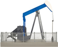 Atlas O Scale Building/Structure Operating Oil Pump (Assembled) Blue/White