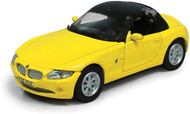 Atlas O Scale BMW Z4 Roadster Convertible Model Car (Assembled) Top Up (Yellow)