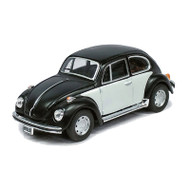 Atlas O Scale Volkswagen Beetle Model Car (Assembled) Matte Black/White