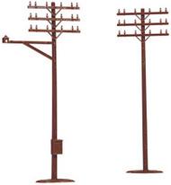 Atlas HO Scale Model Railroad/Train Accessory Telephone Poles (12 Pack)