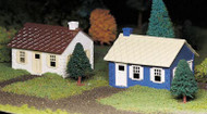 Plasticville O Scale USA Classic Building/Structure Kit Cape Cod House 2-Pack