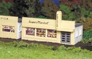 Bachmann HO Scale Plasticville Classic Building/Structure Kit - Supermarket