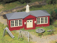 Plasticville O Scale USA Classic Building/Structure Kit School House/Playground Set