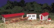 Bachmann HO Scale Plasticville Classic Building/Structure Kit - Farm w/ Animals