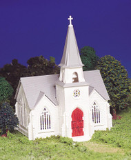 Bachmann HO Scale Plasticville Classic Building/Structure Kit - Cathedral