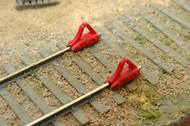 Durango Press HO Scale Model Railroad Detail Parts - Car Stops (6-Pack)