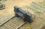 Durango Press HO Scale Model Railroad Detail Parts - Wood and Sand Track Bumper