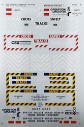 Microscale Model Railroad/Train Decals N Scale CSX Cabooses Operation Lifesaver