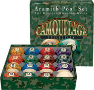 Genuine Belgian Aramith Camoflage Pool/Billiard Ball Set (Phenolic Resin)