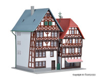 Kibri Z Scale Building/Structure Kit Two Timber Framed Houses/Homes