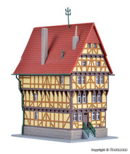 Kibri Z Scale Building/Structure Kit Two Timbered Home/House on the Square