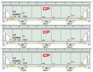 Accurail HO Scale Kit ACF 3-Bay Covered Hoppers Canadian Pacific/CP Rail 3-Pack