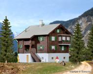 Kibri Z Scale Building/Structure Kit Farmhouse in Matt Wooden Alpine House/Home