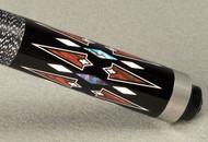 McDermott Star S84 Maple, Black Paint, Colored Overlay Pool/Billiard Cue Stick
