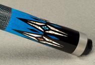 McDermott Star S85 Maple, Blue stain, Colored Overlay Pool/Billiard Cue Stick