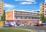 Kibri N Scale Building/Structure Kit Business Center/Office Building