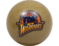 NBA Imperial Golden State Warriors Pool Billiard Cue/8 Ball - Gold