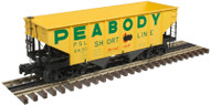 Atlas O Scale 55-Ton 2-Bay Coal Hopper (2-Rail) Peabody Short Line #6616