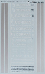 Microscale Model Railroad/Train Decals N Scale RJ Corman (RJCC) Diesels/Switcher