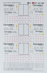 Microscale Model Railroad/Train Decals N Scale Ferromex 53' Container/Chassis