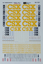 Microscale Model Railroad/Train Decals N Scale CSX Diesels (2002+) - Yellow