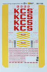 Microscale Model Railroad/Train Decals N Scale Kansas City Southern AC4400CW