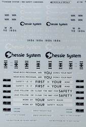 Microscale Model Railroad/Train Decals HO Scale Chessie System Safety Cabooses