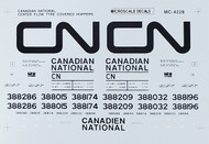 Microscale Model Railroad/Train Decals HO Scale Canadian National CF Cov Hoppers