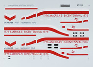 Microscale Model Railroad/Train Decals N Scale Milwaukee Bicentennial SD40-2