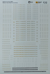Microscale Model Railroad/Train Decals HO Scale Baltimore & Ohio/B&O Steam Locos