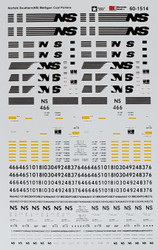 Microscale Model Railroad/Train Decals N Scale Norfolk Southern/NS Bethgons