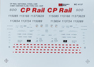 Microscale Model Railroad/Train Decals HO Scale CP Rail CF Covered Hoppers