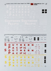 Microscale Model Railroad/Train Decals N Scale Southern Pacific 100 Ton Hoppers