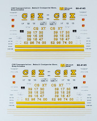 Microscale Model Railroad/Train Decals N Scale CSX Coal Hoppers 1995+