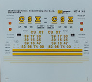 Microscale Model Railroad/Train Decals HO Scale CSX Coal Hopper (1995+) Gray