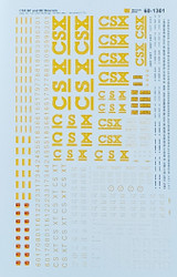 Microscale Model Railroad/Train Decals N Scale CSX 60' & 86' Boxcars