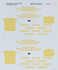 Microscale Model Railroad/Train Decals N Scale Reading Blue Mountain & Northern