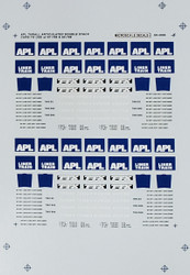 Microscale Model Railroad/Train Decals N Scale APL Thrall Double Stack Cars