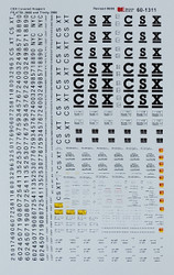 Microscale Model Railroad/Train Decals N Scale CSX Covered Hoppers Assorted