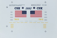 Microscale Model Railroad/Train Decals HO Scale CSX Dash8-40CW Presidential Tour