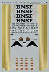 Microscale Model Railroad/Train Decals N Scale BNSF Dash 9-44CW Diesels 1996+