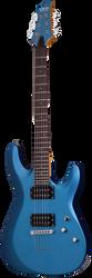 Schecter C-6 Deluxe Satin Metallic Light Blue Electric Guitar