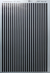 Microscale Model Railroad/Train Decal Set - 1/8 Inch Black Stripes/Lines