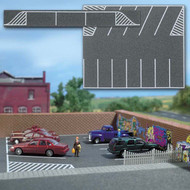 Busch N Scale Street/Roadway System Parking Lot and Spaces 4-3/4 x 4in.