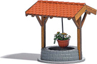 Busch HO Scale Covered Well w/Hangng Pot Model Train Scenery Detail Kit 1524
