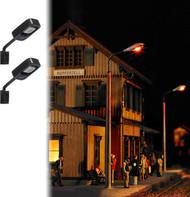 Busch HO Scale Wall Lamps (Square, Pkg. 2) Model Train Scenery Detail Kit 4132