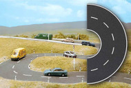 Busch N Scale Street/Roadway System 4-3/4in. Diameter Curve Section