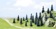 """Busch Z/N/HO Scale Pine Trees (Package of 20) 1-9/16"""" - 3-1/2"""" Tall 6498"""
