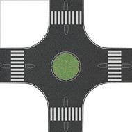 Busch N Scale Street/Roadway 4-Way Roundabout Intersection 6-3/8 x 6-3/8in.